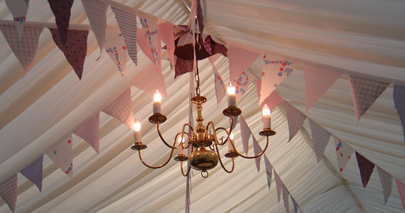 Chandelier in situ